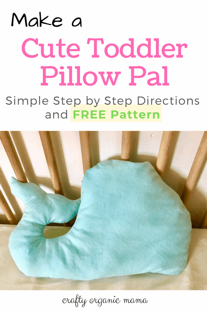 Make this adorable toddler pillow pal by following this easy tutorial. There is a FREE pattern too! You will have your toddler sleeping in their big kid bed in no time at all!