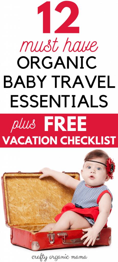organic baby travel essentials