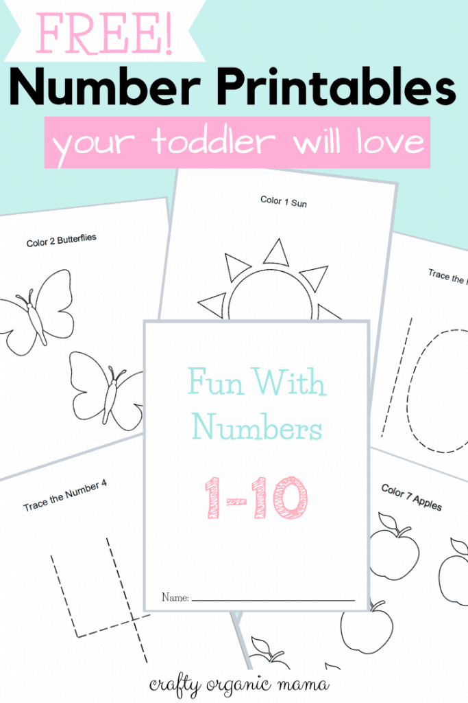 Get A (Free!) Fun Number Printable Packet for Toddlers